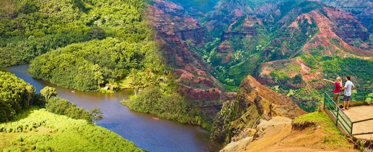 Oahu to Kauai - Waimea Canyon and Wailua River Tour
